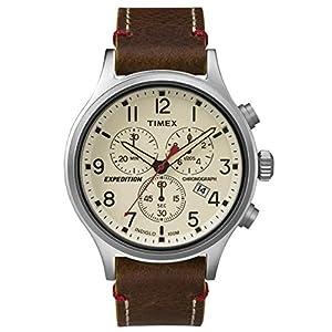 Timex Reloj Cronógrafo para Hombre de Cuarzo con Correa en Cuero TW4B04300