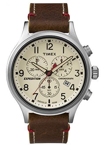 Timex Herren Chronograph Quarz Uhr mit Leder Armband TW4B04300 (Leder Timex)