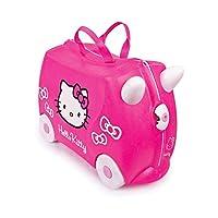 E 'rosa ed è il primo scintillante Trunki! Ciao Kitty porta una scintilla per ogni viaggio. Trunki è stato creato per battere la noia spesso subiti da bimbetti di viaggio. Progettato per essere utilizzato come bagaglio a mano, i bambini posso...