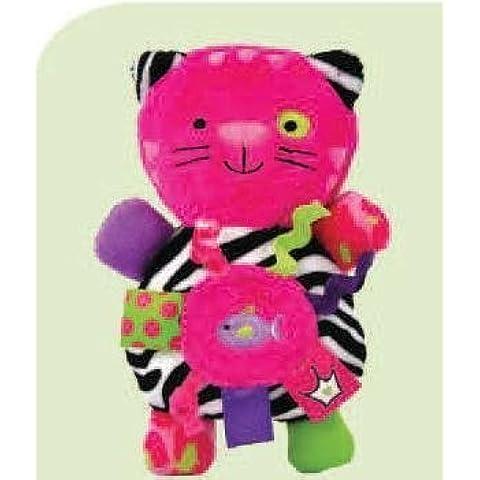 Label Loveys Pink Kittie Rattle Toy by Kids Preferred
