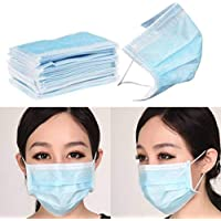 Non Woven Elastic Ear-Loop Disposable Face Mask, 100 Psc