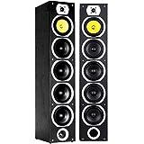 Fenton SHFT57B Zuil-Luidsprekerset 5x 6.5 Inch 1x 1 Inch Stereo 4-Weg