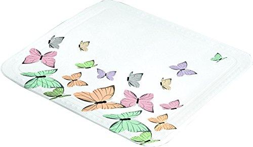 Kleine Wolke Butterflies Duscheinlage, PVC Schaum, Multicolor, 55 x 55 x 3 cm