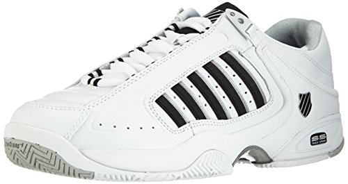 K-Swiss Performance Defier Rs, Men Tennis Shoes, White (White/Black 30), 9 UK (43 EU)