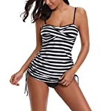 Cebbay Maillot de Bain Femme 2 Pieces - Été -   Point d'impression -   Bain Monokini Push Up - Tankini...