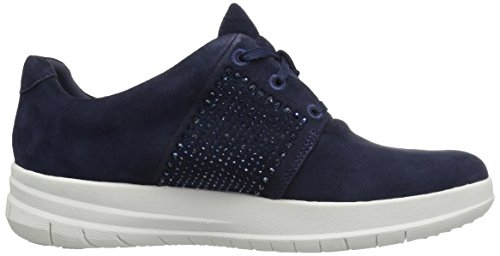 Sporty Pop X Crystal Sneaker - Black Suede Midnight Navy