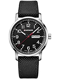 Wenger Men's 'Sport' Swiss Quartz Stainless Steel and Nylon Casual Watch, Color:Black (Model: 01.1541.105)
