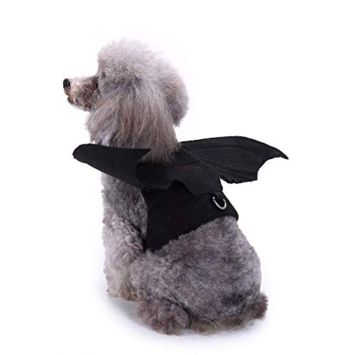 JSMeet Outfit Pet Shirt Bat Wings Outfit Puppy T Shirt Dog Halloween Fancy Vest Pullover Top Pet Dog Cat Costumes ()