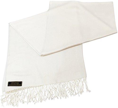 CJ Apparel Off-weiße Einheitliche Farbe Nepalesisch Schultertuch Pashmina Schal Schultertücher NEU