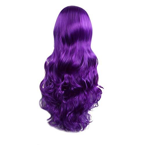Damen Perücke OHQ 80CM Lang Wellig Lockig Haare Ombre Haar Perücke Volle Natürlich Mode Party Kostüm