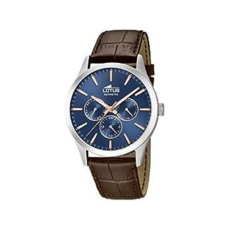 Lotus Watches Reloj Multiesfera para Hombre de Cuarzo con Correa en Cuero 18576/5