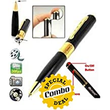 GKP Products Combo of -3 1x Spy Hd Pen Camera with Voice-Video Recorder, 1x USB LED Light for PC, Mobile Phones & 1x 4 in 1 SIM Card Adapter