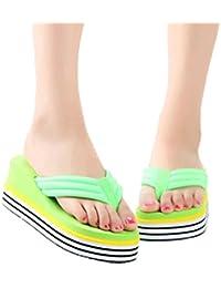 Chanclas Mujer Sandalias de mujer Zapatilla de verano Interior Al aire libre Chancletas Zapatos de playa Zapatos de mujer LMMVP