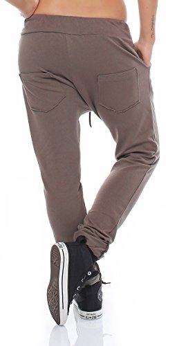 ZARMEXX pantaloni delle donne casuali sudore pantaloni harem pants pantaloni della tuta pantaloni di pantaloni di cotone per il tempo libero rigonfio Loose Fit Boyfriend da corsa Cappuccino