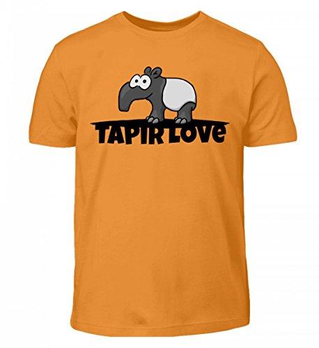 Shirtee Hochwertiges Kinder Tapir Love - ein für Alle Fans Des Großartigen Tieres Dieser Welt, dem Schabracken-Tapir Orange
