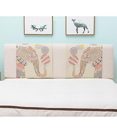 LIQICAI Mystérieux l'éléphant Tête de lit Coussin Dossier Soutien pour Unique, Double, Grande taille/Lit Têtes de lit Couverture Lavable, 5 tailles Disponible (taille : 200 * 10 * 58cm)