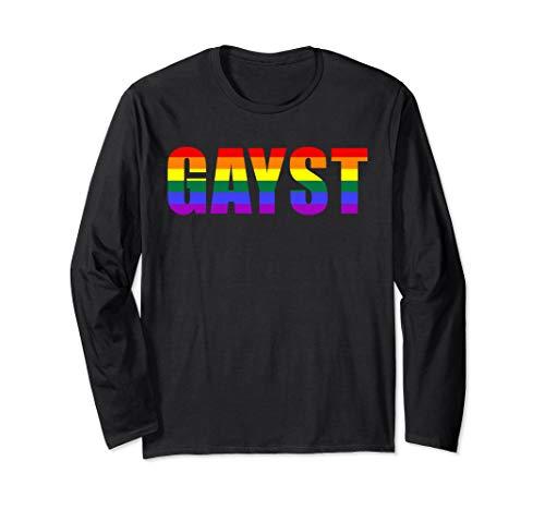 Gayst Gay Geist LGBT Queer Trans Bi Regenbogen Gay Pride   Langarmshirt