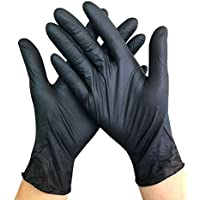 Disposable Black Nitrile Glove Oil-Resistant Acid And Alkali Resistant Tattoo Manicure Hair Dressing Labor Safety Industrial Garage Gloves 100 Pcs