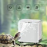 Vansuky AC220~240V Filtre Bas Niveau d'eau pour Tortue (1.5cm), Pompe à Eau Propre pour Les Tortues et Les Reptiles (Prise UE)