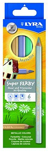 Preisvergleich Produktbild LYRA 3721062 Super Ferby Metallic Kartonetui mit 6 Farbstiften, farbig sortiert