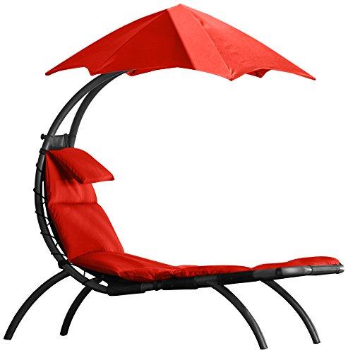Vivere Dream Lounger (originale), lettino-sdraio da giardino con ombrello parasole