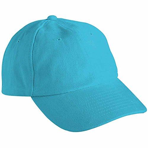 Myrtle beach - Casquette visière unie 6 panneaux coton - MB6111 - bleu turquoise - mixte adulte