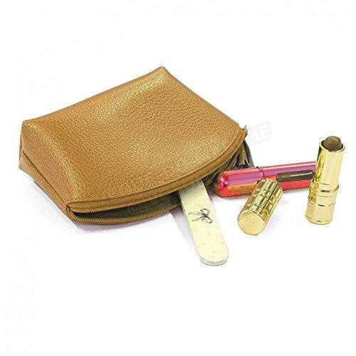 Kosmetiktasche, Leder Herstellung Luxe Französische Gr. Einheitsgröße, Gold - Goldfarben (Französisch Handtasche Gold)