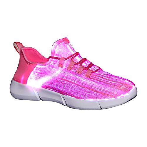another chance 827e5 21706 DULEE Unisex Erwachsenen LED Schuhe 7 Farbe USB-Ladevorgang Leuchtschuhe  Blinkschuhe LED Sneaker Sportschuhe Turnschuhe