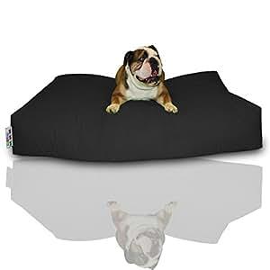 BuBiBag Hundekissen Hundesitzsack Größe 100x60x10 cm aus wasserdichtem Polyester Stoff in 23 Auswahl (schwarz)