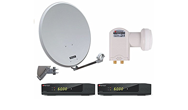 Opticum Red Digitale 2 Teilnehmer Satelliten Komplettanlage Mit Opticum Hd Ax 300 Plus Hdtv Receiver Twin Lnb Qa 60 Cm Antenne Stahl Lichtgrau Heimkino Tv Video