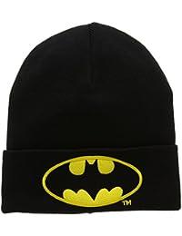 Bonnet en laine Batman Logo - Bonnet DC Comics - Super-héros - avec logo brodé - noir - Design original sous licence - LOGOSHIRT