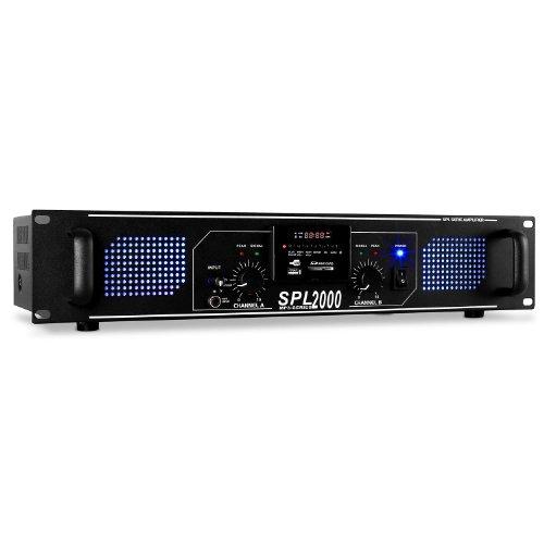 Skytec SPL-2000 Amplificador HiFi PA LED 2000W USB