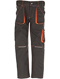 Planam Bundhose Junior, größe 98 / 104, oliv / orange / mehrfarbig, 6112098