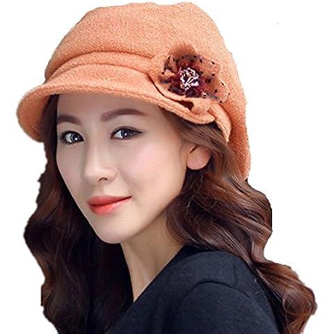 B-B Women's Elegant Temperament Autumn Winter Woolen Warm Hat