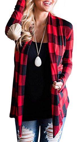Frieda Fashion - Gilet - Manches Longues - Femme Rouge