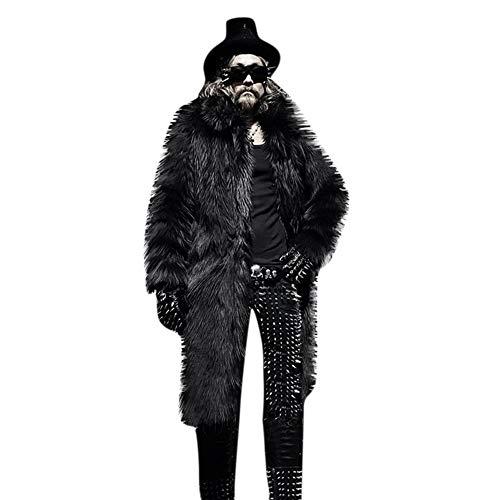 Preisvergleich Produktbild Zarupeng Winter Kunstpelzmantel,  Herren Dicken Lange Mantel Motorrad Jacke Faux Fur Parka Mantel Outwear Strickjacke Windjacke