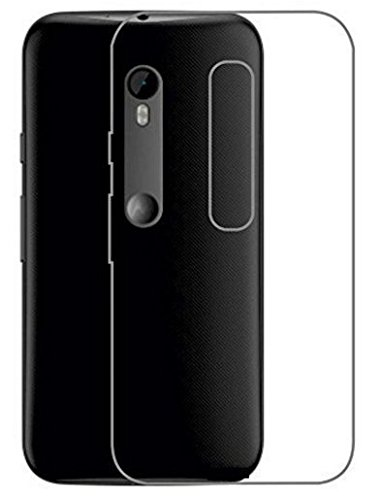 Tidel Premium Transparent clear white Silicon Flexible Soft TPU Slim Back Case Cover For Motorola Moto G3  available at amazon for Rs.99
