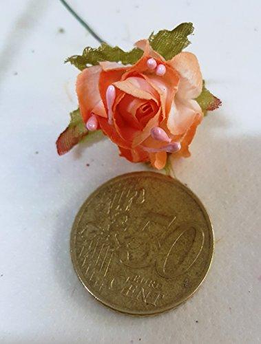 Confezione 72 pezzi-fiori, bomboniera fiore rosellina, x segnaposto, composizione confetti. ck845 (pesco)