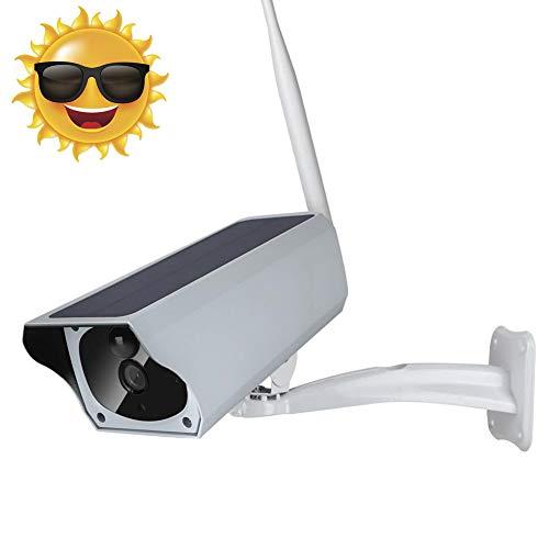 1080P Solar IP Kamera IP67 Wasserdichte Draussen Überwachungskamera IR Cut Nachtsicht PIR Bewegungserkennung WiFi Reichweite 50m Zwei Wege Audio für Villen, Gemeinschaft, Hof, Fischteiche