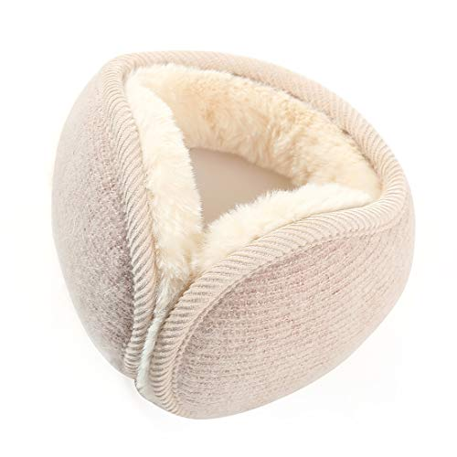 Durio Winter Ohrenschützer Damen Ohrenwärmer Herbst Warme Earmuffs Verstellbar Ear Cover Beige