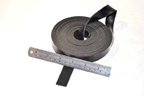 RUBBER STRIP 20mm wide x 2mm thick x 5m long - SOLID NEOPRENE BLACK RUBBER
