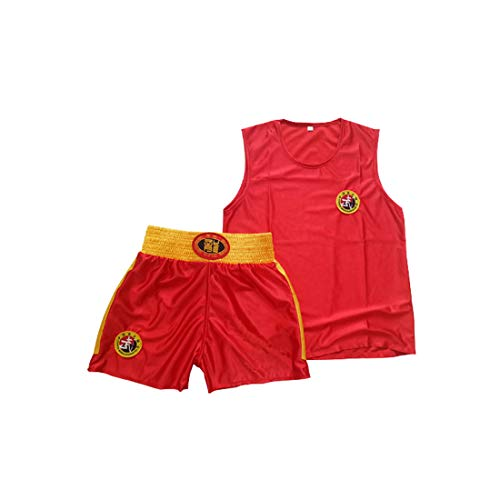 Inlefen Kind Sanda Kleidung Junge und Mädchen Trainingsanzug Männer und Frauen Erwachsene Boxen Set Boxing Shorts Muay Thai Kleidung Kampfsportbekleidung Sportbekleidung - Shorts Frauen Boxing