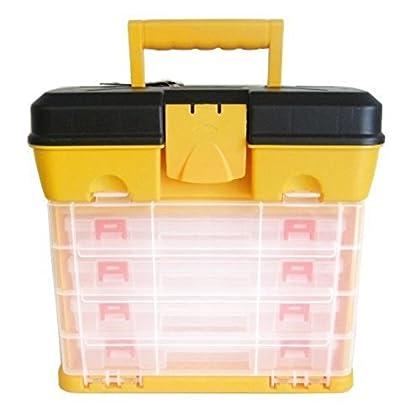 Caja de separadores genéricos para Coche, 4 cajones, Organizador de Utilidad, Caja de Almacenamiento de 4 cajones, Caja de Herramientas para Bricolaje, estorbo de Transporte, Caja de Bricolaje