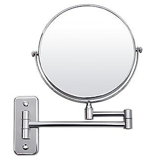 Songmics BBM713 Espejo doble cosmético para la pared, normal y 7 aumentos, 20,3 cm