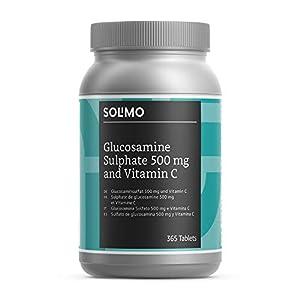 Amazon-Marke: Solimo  Nahrungsergänzungsmittel mit Glucosaminsulfat 500 mg und Vitamin C, 365 Tabletten