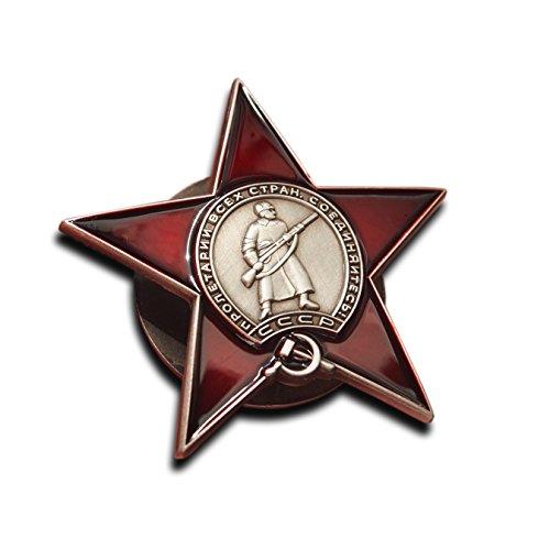 Anstecknadel ORDEN DES ROTEN STERNS der Sowjetunion, Auszeichnung der russischen Armee, Nachbildung, Militär Kampf, Medaille aus dem 2. Weltkrieg UdSSR Ehrenzeichen