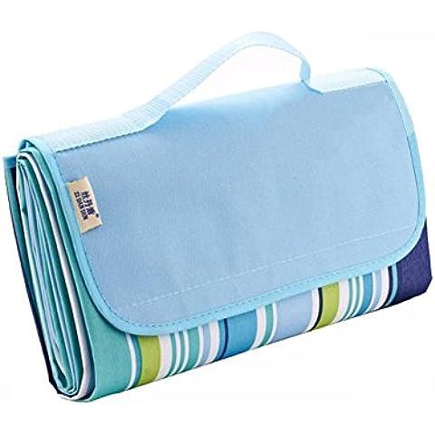 NetBoat pieghevole spiaggia coperta tappetino coperta tappetino 200,7x 144,8cm impermeabile Outdoor, campeggio, Picnic, Large - Maniglia Blue Door