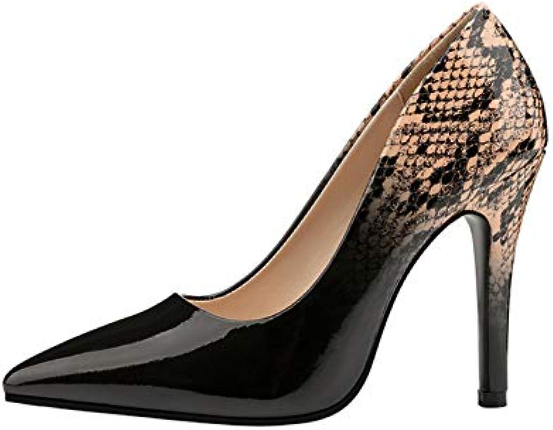 Ai Ya-liangxie Leopard Tacco Tacco Tacco Alto Scarpe Pompe Donna Calzature Donna Il Sottile Tacco Alto Stiletto Scarpa in... | Non così costoso  69a57c