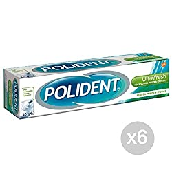 Set 6 Polident Pasta Ultra Fresh Green Adhesive Health & Dental Care