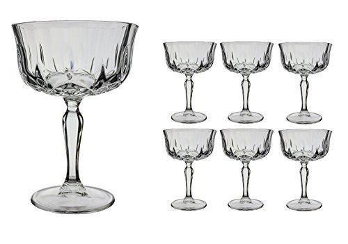 6 x Opera Maison drinkstuff Cocktail Untertassen, champagner Glas-coupe